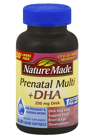 Prenatal without vitamin a