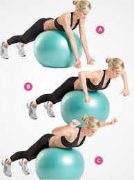 Swiss Ball Upper Back Raise