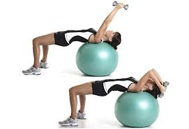 Swiss Ball Triceps Extension